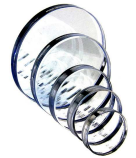 Round glasses for sight glass-fittings