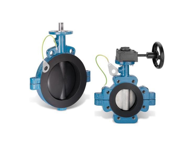 Butterfly Valve for Avoiding Electrostatic Charges